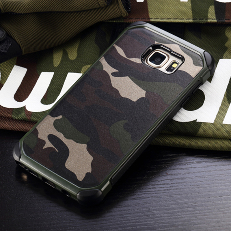 Military Camouflage Case For Samsung Galaxy S8 Plus S7 S6 Edge Hard Shockproof Cover For Samsung A5 A7 A3 2017 J5 J7 2016 Note 4