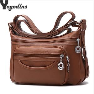 Image 1 - สุภาพสตรีHobos Crossbodyกระเป๋าผู้หญิงMessengerกระเป๋านุ่มล้างPUหนังกระเป๋าสะพายกระเป๋าหญิงกระเป๋าซิปตกแต่ง
