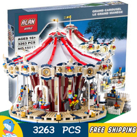 3263pcs Creator Expert Amusement Park Carousel Construct Collection 15013 Model Building Blocks Toys Bricks Compatible with Lego