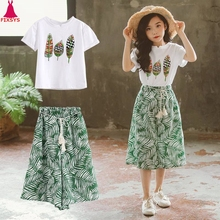 Outfits Kids Pants Clothes-Sets Short-Sleeve Baby-Girls 12-Years Children Summer 3 10-11