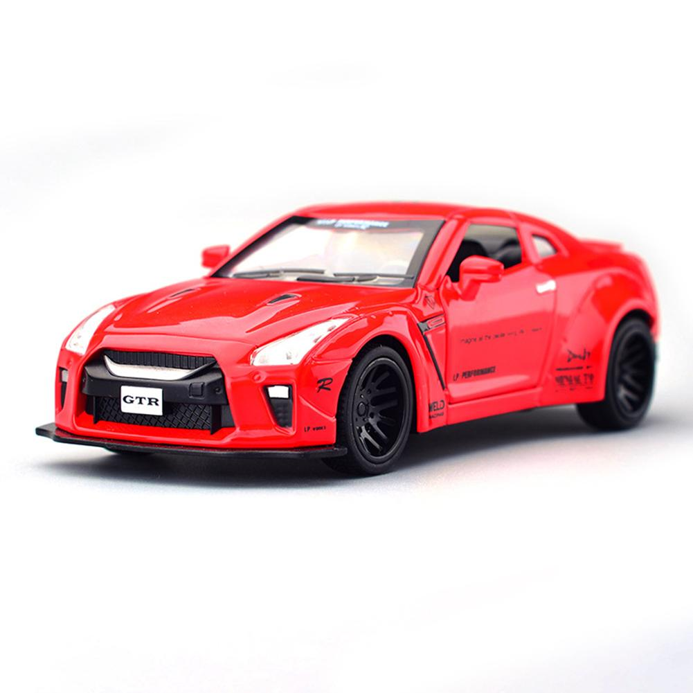 children Toy sound light Sound Pull back car 1:32 Nissan Alloy Diecast Model Sound Light Pull back car toy kids gifts
