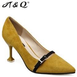 T q 2017 autumn women pumps 8cm fashion sexy high heels shoes buckle pointed toe thin.jpg 250x250