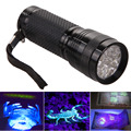 New UV Ultra Violet Blacklight 14 LED Flashlight Torch Invisible Ink Marker LED Torch light