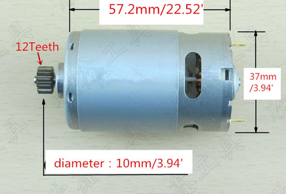 12 Teeth 12 tooth Motor DC 18V Replacement For BOSCH  GSR18V GSR18-2 GSR1800-LI TSR1800-LI  Cordless Drill ScrewdriverEngine электроинструмент bosch gsr 18 2 li plus 2 0ah x2 case 06019e6120 06019e6104