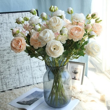 1 Pc Silk Artificial Western Rose Bridal Bouquet Style Fake for Wedding Party Home Decoration Simulation