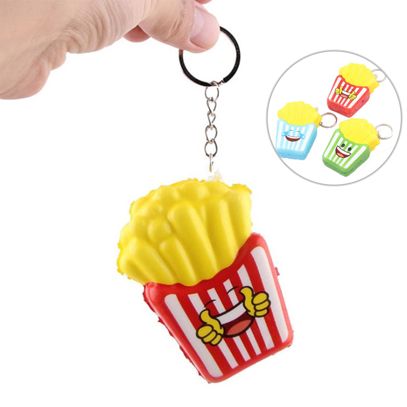 Funny Squishy Toys For Children Hamburger Ice Cream Kids Slow Rising Anti Stress Toys Keychain Squishies Stress Relief Toys Gift For Sale