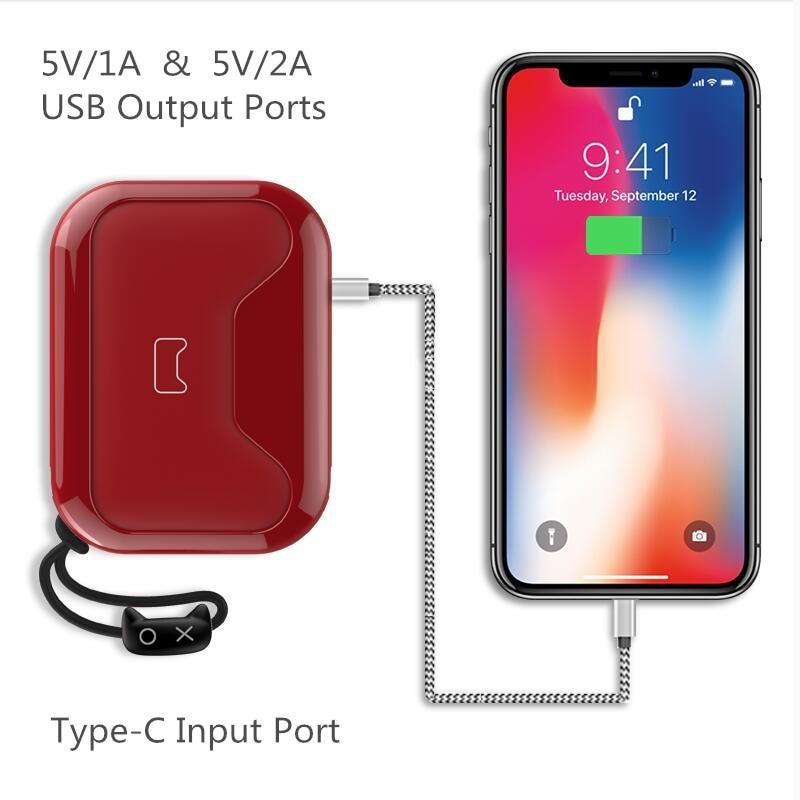 Mipow QI Chargeur Sans Fil Power Bank 10000 mah Portable 5 v 2A Dual USB Externe Batterie Powerbank Pour iphone X 8 Xiaomi Huawei - 4