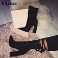 Eilyken/женские ботильоны  осень/зима  модные  с острым носком  на каблуке  на молнии  плюс размер 35-42  2020