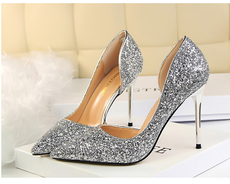 sapatos femininos saltos finos sapatos de casamento