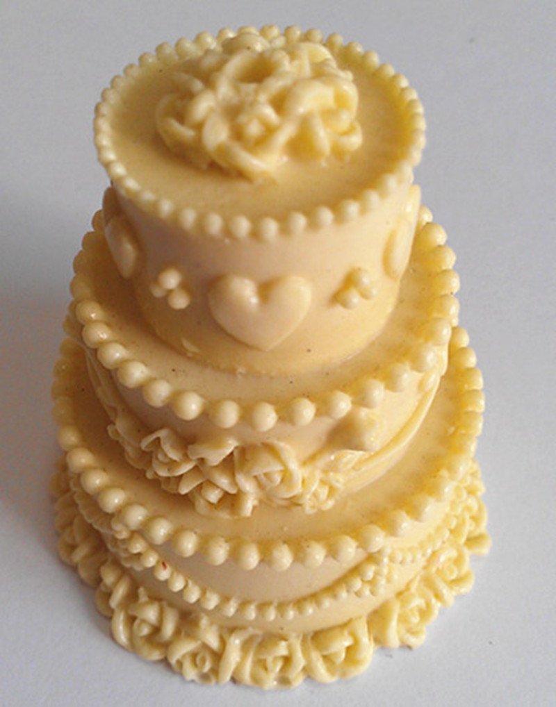 New Arrival Design 135 3 Layer Wedding Cake Silicone 3D Cake