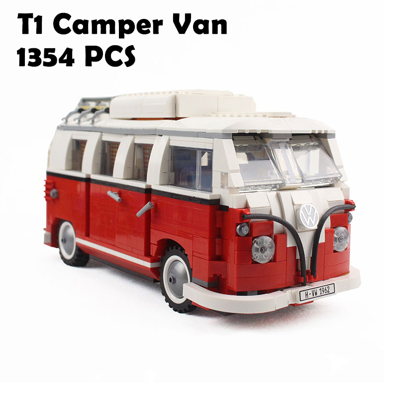YILE 306 21001 the T1 Camper Van Model Building Blocks kits Compatible with lego 10220 Technic car Toys new lepin 20054 4237pcs creator camper van model building kits bricks toys compatible gifts 10220