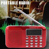 RETEKESS PR11 Портативный FM радио приемник 2 Band Цифровые мини карман с USB радио MP3 плеер поддерживает TF usb-флеш-накопитель