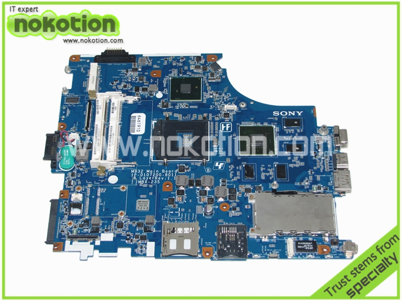 A1796418B MBX-235 Laptop Motherboard for Sony VAIO VPC-F M932 Main Board 1P-0107200-8011 8 Layer Rev 1.1 Nvidia GeForce GT425M