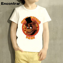 Kids Five Night At Freddy Fnaf Design Baby Boys/Girl TShirt Kids Funny Short Sleeve Tops Children Cute T-Shirt,ooo4408(China)
