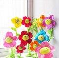3 unids/lote 32 cm unflower vendaje historieta de los cabritos rellenos felpa plantas cortinas flor botón de la cortina de los niños de la felpa decoración