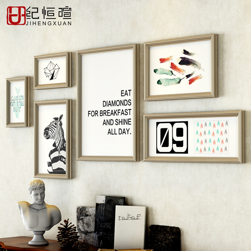 Europe decorative painting modern living room hanging photo frame ...