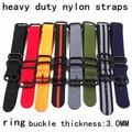 1PCS Heavy duty nylon straps 20mm 22mm 24mm Nylon Watch band NATO strap zulu strap watch strap ring buckle -HDNS001
