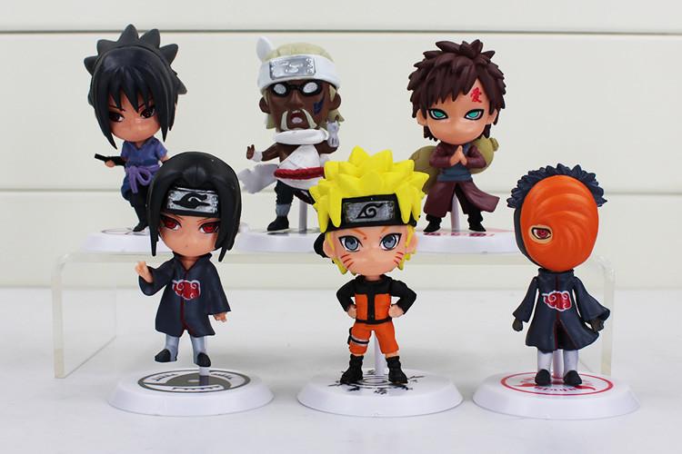 6 Pcs Naruto Action Figure Q Edition