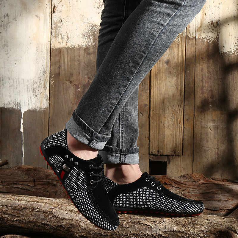 חדש אופנה גברים דירות אור לנשימה נעלי רדוד נעליים יומיומיות גברים לופרס מוקסינים איש ספורט Zapatos Hombre נעליים