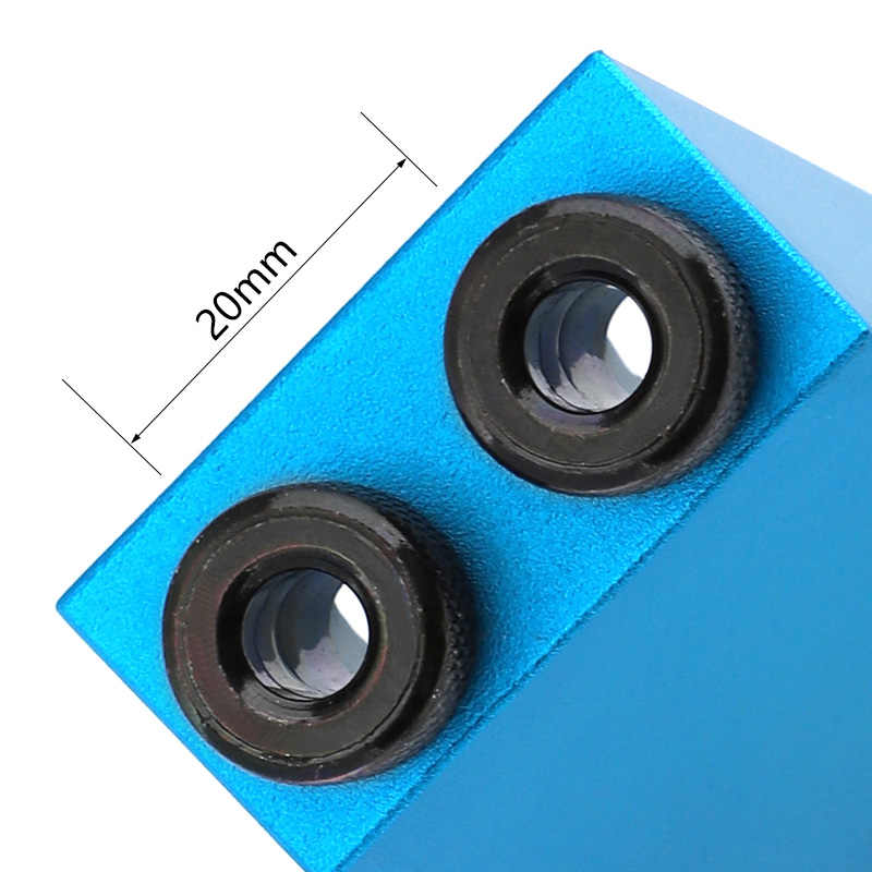 Gabarit de trou de poche remplaçable 6 8 10mm Guide de forage magnétique Kit de gabarit de cheville arrière foret à bois pour l'assemblage du bois