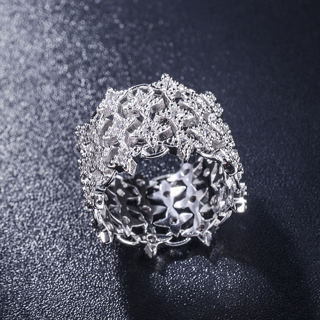 7f46b3f924ceb US $6.91 23% OFF|European 925 Sterling silver Female Crystal from Swarovski  Simple Luxury sapphire ring wedding ring fashion jewelry jewelry-in Rings  ...