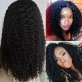 150% 8A Kinky Mongolian Kinky Curly Full Lace Perucas de Cabelo Humano Peruca Curly Branqueada Knots Parte Dianteira Do Laço Perucas de Cabelo Humano Mulheres Negras