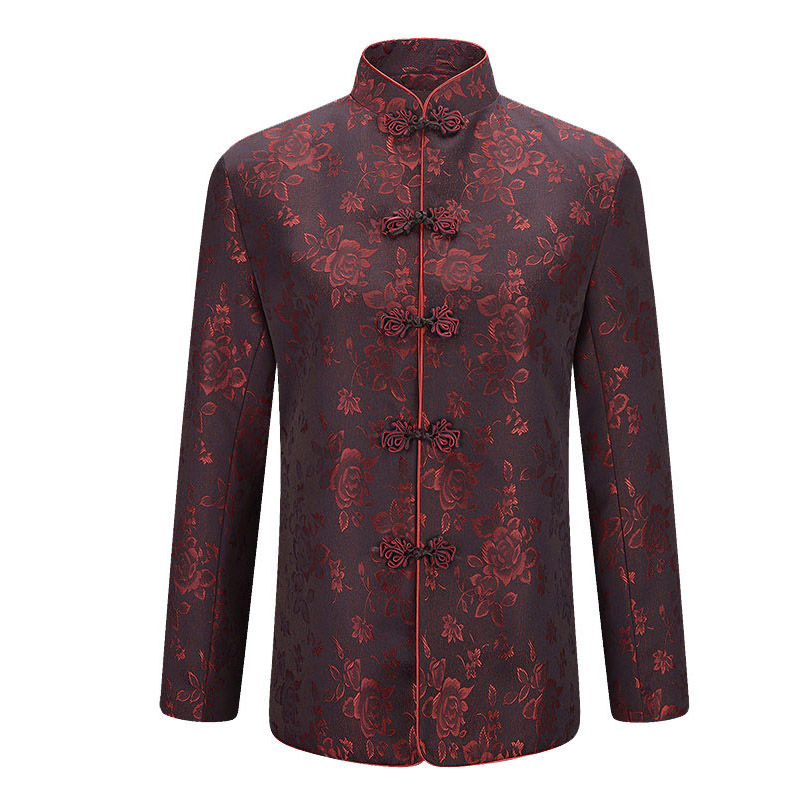 19d70ed83d Otoño Longevidad Invierno Jacket Tradicional La man China women Chino De  Gruesa Hombres Año Nuevo Man Jacket Cumpleaños Mujer Chaqueta ...