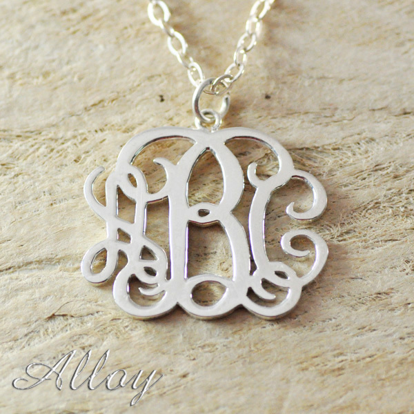 Custom alloy monogram necklacemonogram name necklaceinitials custom alloy monogram necklacemonogram name necklaceinitials necklace personalized jewelry chain in the middle in pendant necklaces from jewelry aloadofball Images