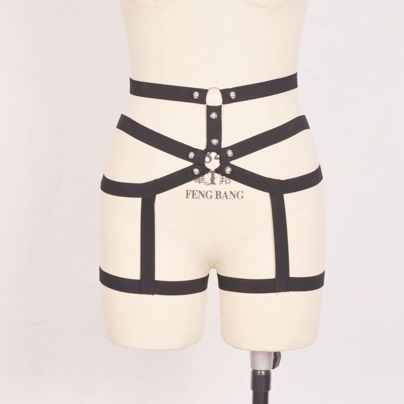Liguero de mujer hecho a mano gótico liguero clubwear sexy liguero medias cinta liga lencería el arnés bondage arnés