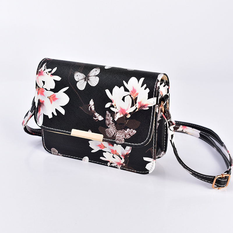 TCGAD Women Floral Leather Shoulder Bag Handbag Retro Female Small Messenger Bag Famous Designer Clutch Shoulder Bags Girls Bag new retro velvet small cover flap pocket bag quilted women shoulder bag designer clutch chain messenger bags famous brands