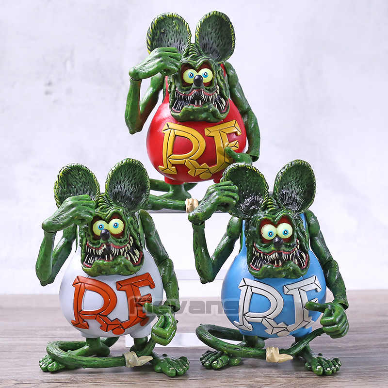 Rat Fink Joint Movable PVC Action Figure Collectible Modelo Toy Brinquedos Figurals