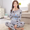 Новых Листинговых WAVMIT 2017 Весна Пижамы Женщин Коробки Симпатичные Pattern Пижамы Установить Тонкий Pijamas Pijama Mujer Пижамы 90 S Оптовая
