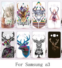 Mr Deer Series Phone Skin For Samsung Galaxy A3 2014 A3000 A300F Cases Cool Style Durable Function Plastic and Silicon Phone Bag