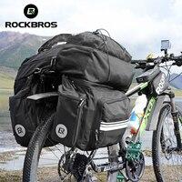 ROCKBROS 3 в 1 Водонепроницаемый велосипед мешок Путешествия Паньер 48L MTB горный велосипед стойку сумка велосипед задние сиденья магистральные с