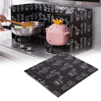 Kuchnia kuchenka gazowa przegroda płyta aluminiowa składana kuchnia patelnia olej Splash Protection Screen akcesoria Kichen tanie i dobre opinie KEMORELA Specjalne narzędzia Ekologiczne Zaopatrzony Metal Splatter ekrany HOC-1053 White Black 32 7X84cm 12 9 X33 1