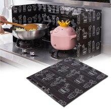 Placa deflectora plegable de aluminio para estufa de Gas, sartén de cocina, pantalla de protección contra salpicaduras de aceite, accesorios de cocina