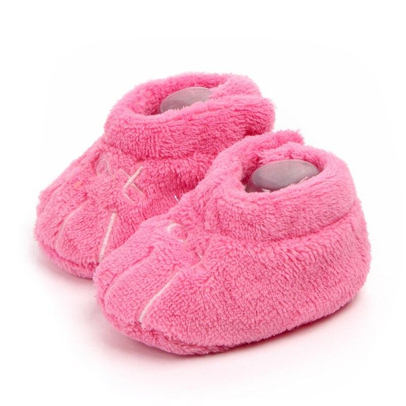 Autumn Soft Cozy Toddler Shoes Prewalker Kids Girls Letter Warm Crib First Walkers Skid-proof Shoes 0-1Y