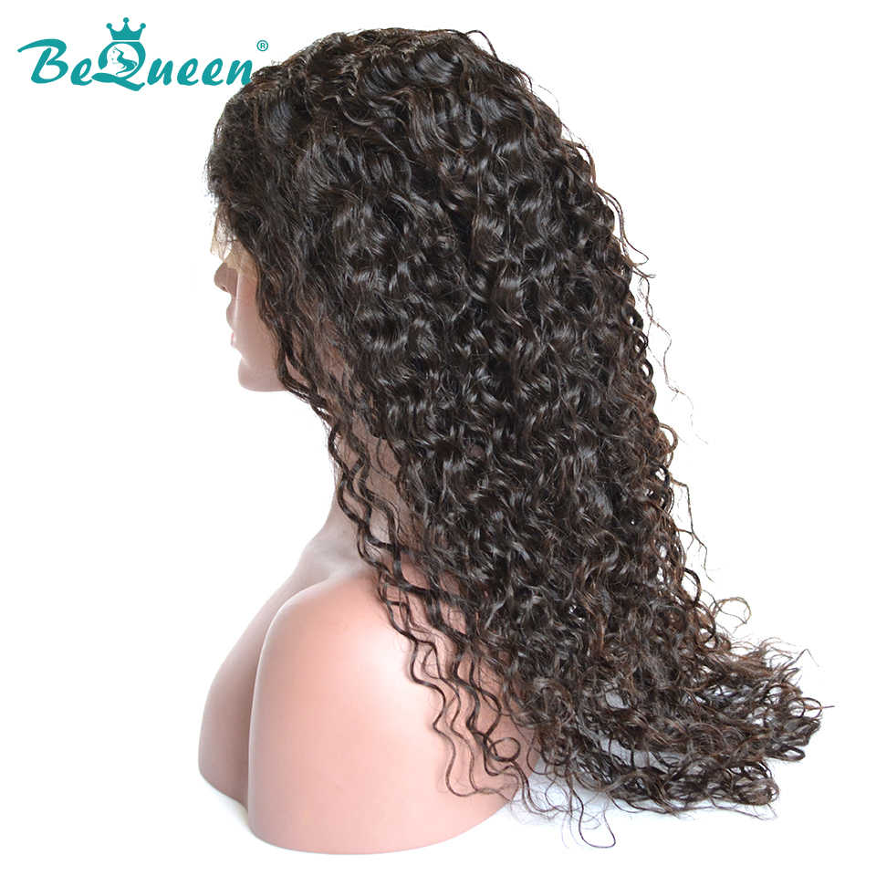 BeQueen Hair Deep wave 360 Lace Frontal Wigs with Natural Hairline Full Lace Wig Pre-plucked Lace Front Wigs Density 150%