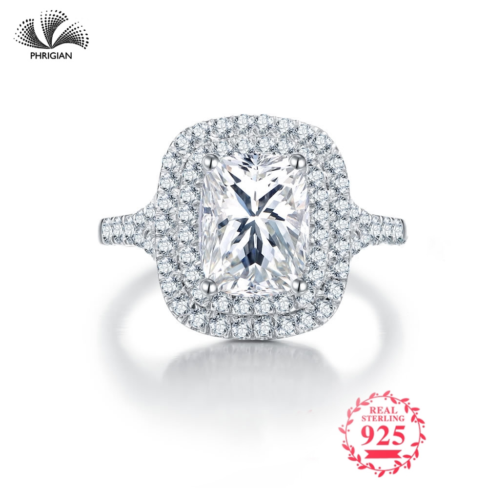 Sona NOT FAKE Fine Engraving Ring S925 Sterling silver Diamond Custom ring Original Design 925 carat claritySona NOT FAKE Fine Engraving Ring S925 Sterling silver Diamond Custom ring Original Design 925 carat clarity