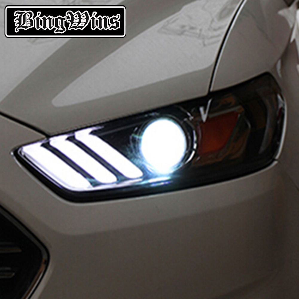 Car Styling For Ford Fusion Headlights 2013 2014 2015 Fusion LED Headlight Original DRL Bi Xenon Lens High Low Beam Parking akd car styling for kia k2 rio headlights 2011 2014 korea design k2 led headlight led drl bi xenon lens high low beam parking
