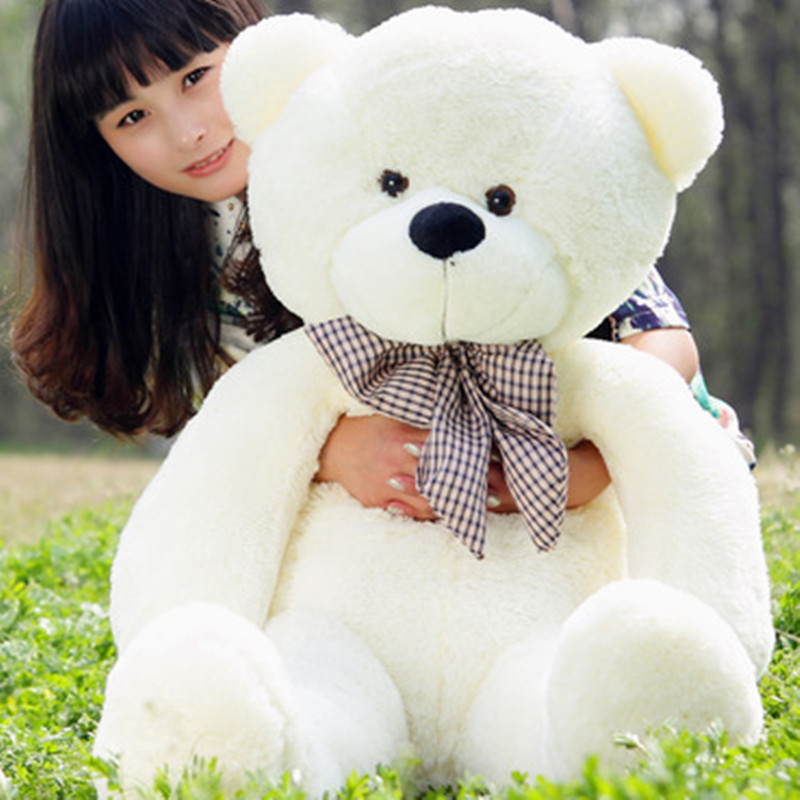 1pc Cute Large Size 80cm four colours Soft Stuffed Teddy Bear Plush Toy Big Embrace Bear Doll Lovers Christmas&Birthday gift 78 200cm giant size finished stuffed teddy bear christmas gift hot sale big size teddy bear plush toy birthday gift