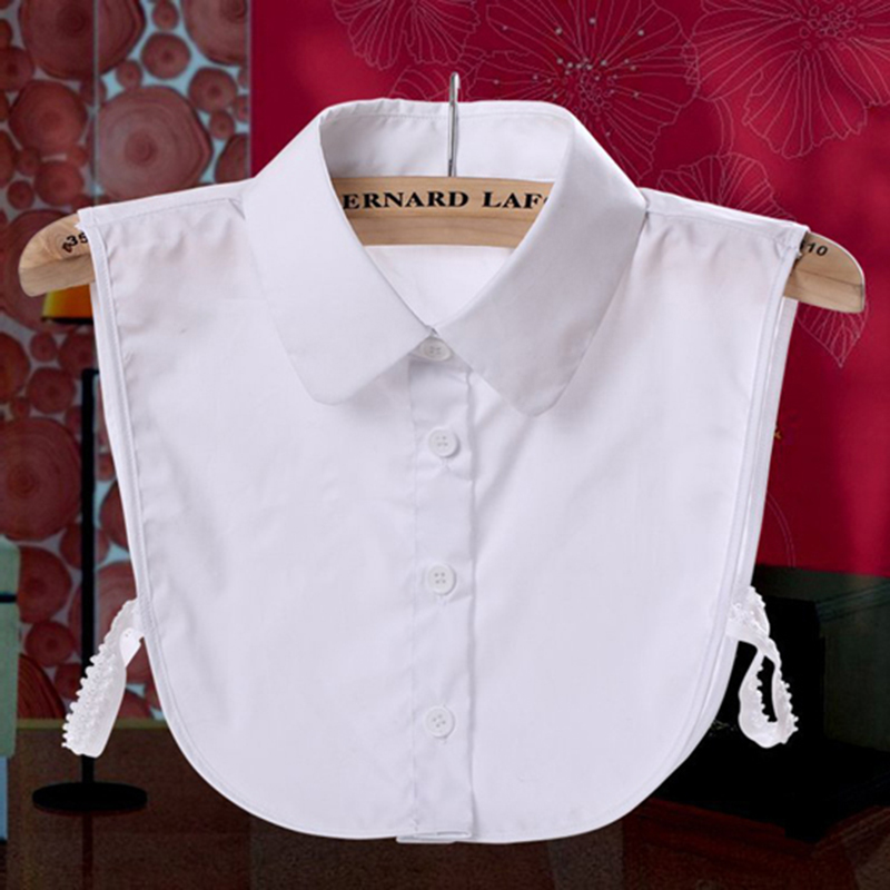 CC.AMILY Ladies Women Adult Detachable Lapel Shirt Fake Collar Solid Color False
