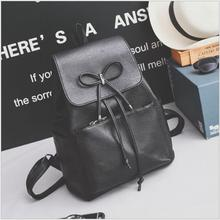 2018 Fashion Women Backpacks High Quality Youth PU Leather Bags With Bow for Teenage Girls Female School Casual Shoulder Bag