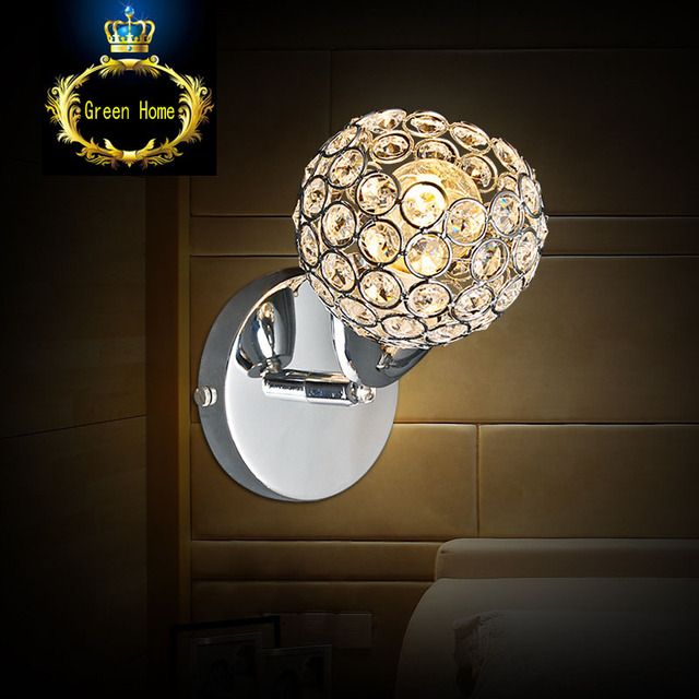 FREE SHIPPING Simple LED modern crystal decoration table lamp personality style bed bedroom study room study desk lamp