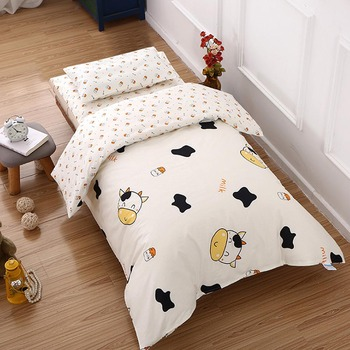 цены 3Pcs/set Cotton Crib Bed Linen Kit Cartoon Baby Bedding Set for Boy Girl Including Pillowcase Bed Sheet Duvet Cover