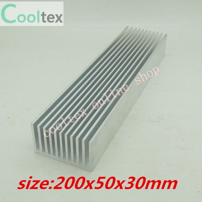 200x50x30mm Aluminum radiator High-power HeatSink for electronic Chip CPU GPU VGA RAM LED IC Heat Sink COOLER cooling 50pcs lot aluminum heatsink 8 8x8 8x5mm electronic chip cooling radiator cooler for cpu ram gpu a4988 chipset heat sink