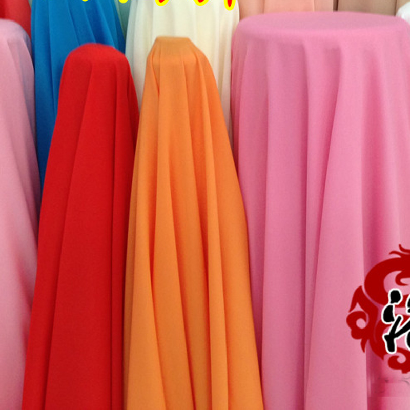 Quality elastic Lycra opaque chiffon cloth thick yarn mill chiffon clothes diy fabric 80 Colour