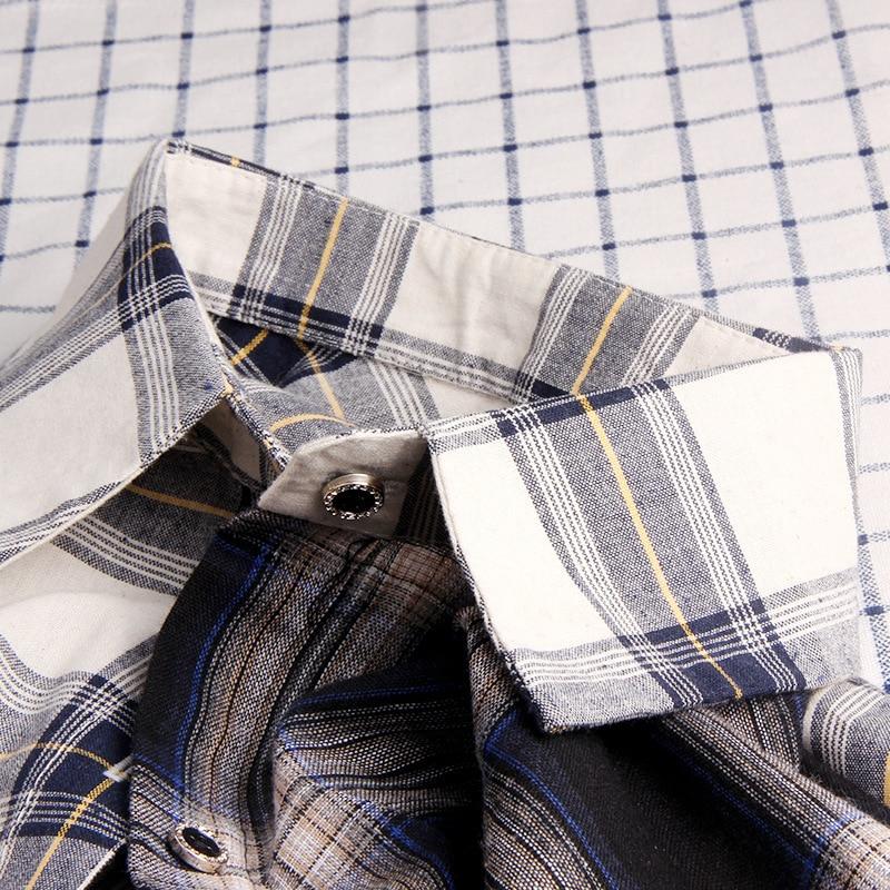 Image 4 - ALLKPOPER KPOP  Plaid Shirt Women Bangtan Boys SUGA Blouse Korea Fashion Plus Size Casual Spring Autumn Splice Shirts-in Blouses & Shirts from Women's Clothing