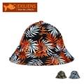 [EXILIENS] 2017 Marca de Moda sombreros de Cubo Sombreros de Algodón Hojas Pescador Ocasional Tapas de Hip-Hop Sombreros Para Hombres Mujeres Precioso Sombrero de la Pesca
