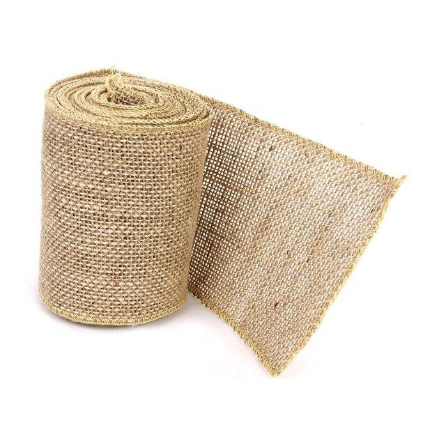 3m Hessian Jute Craft Ribbon For Diy Crafts Home Wedding Decor